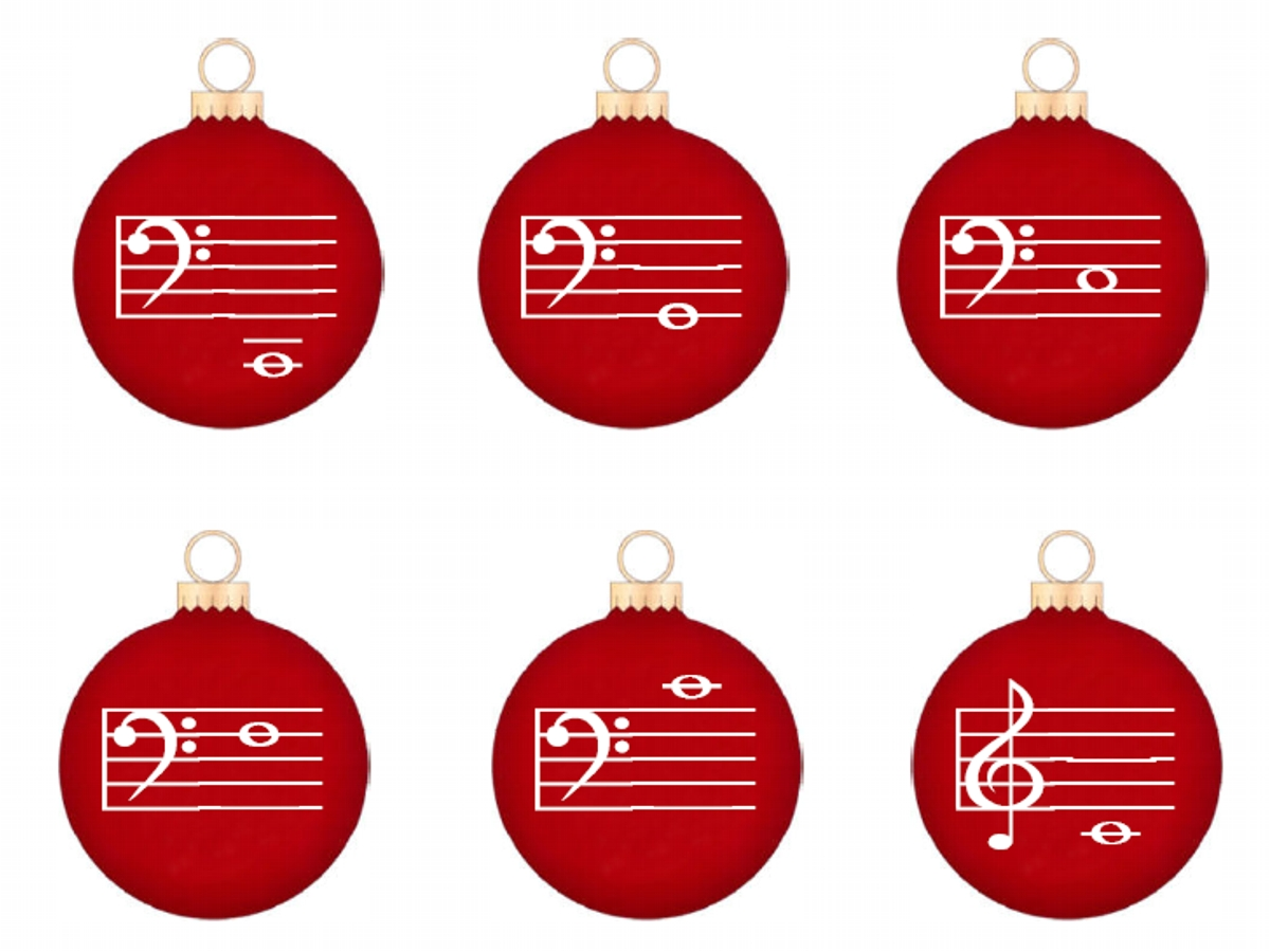 Christmas music ornaments - Ornaments