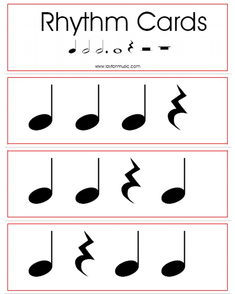 Rhythm Flashcards Layton Music Games And Resources