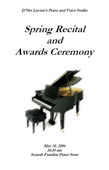 Recital Program Templates | Layton Music Games and Resources