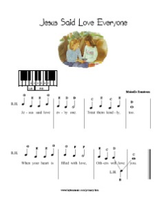 Pre-Reading LDS Primary Songs | Layton Music Games and Resources